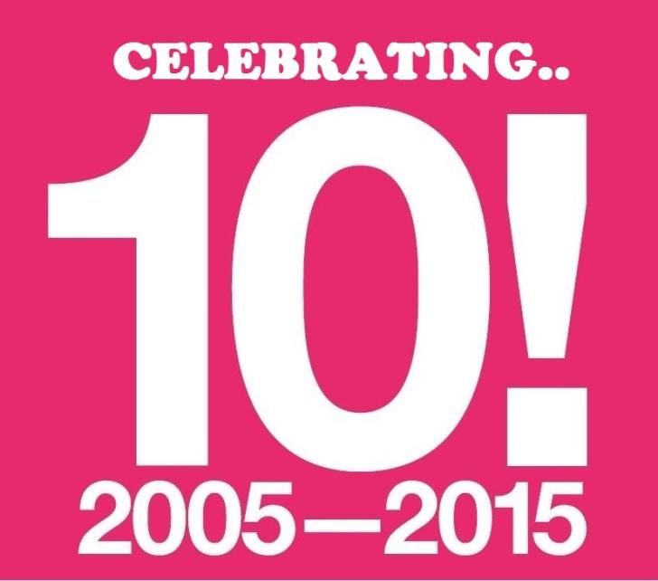 celebraating 10 website