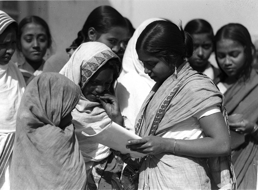 A picture taken to observe Literacy Day in India, 1947.