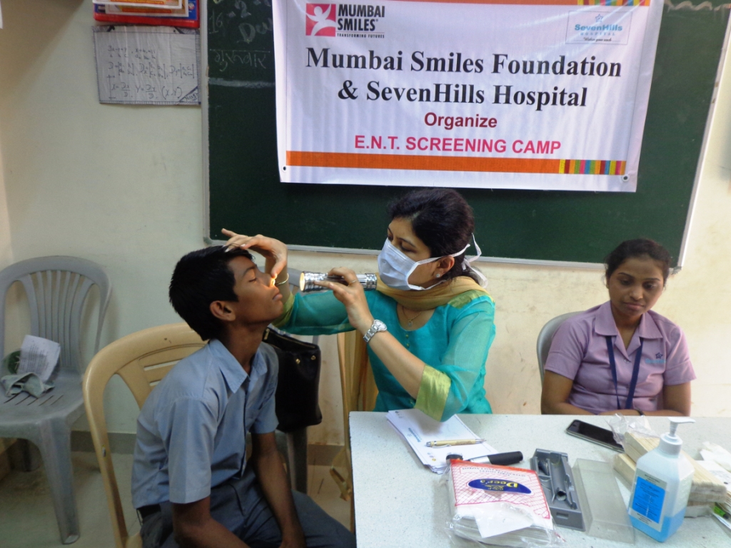 85 children benefit from free ENT Camp | Mumbai Smiles
