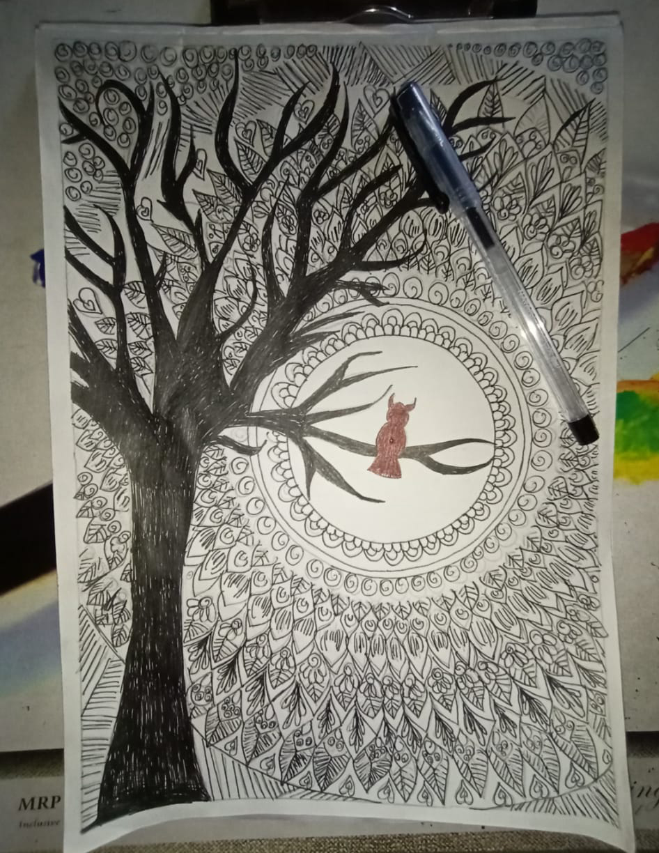 Sample of an artwork created by one of our beneficiaries in the Tamuku Slam Out Loud Project.